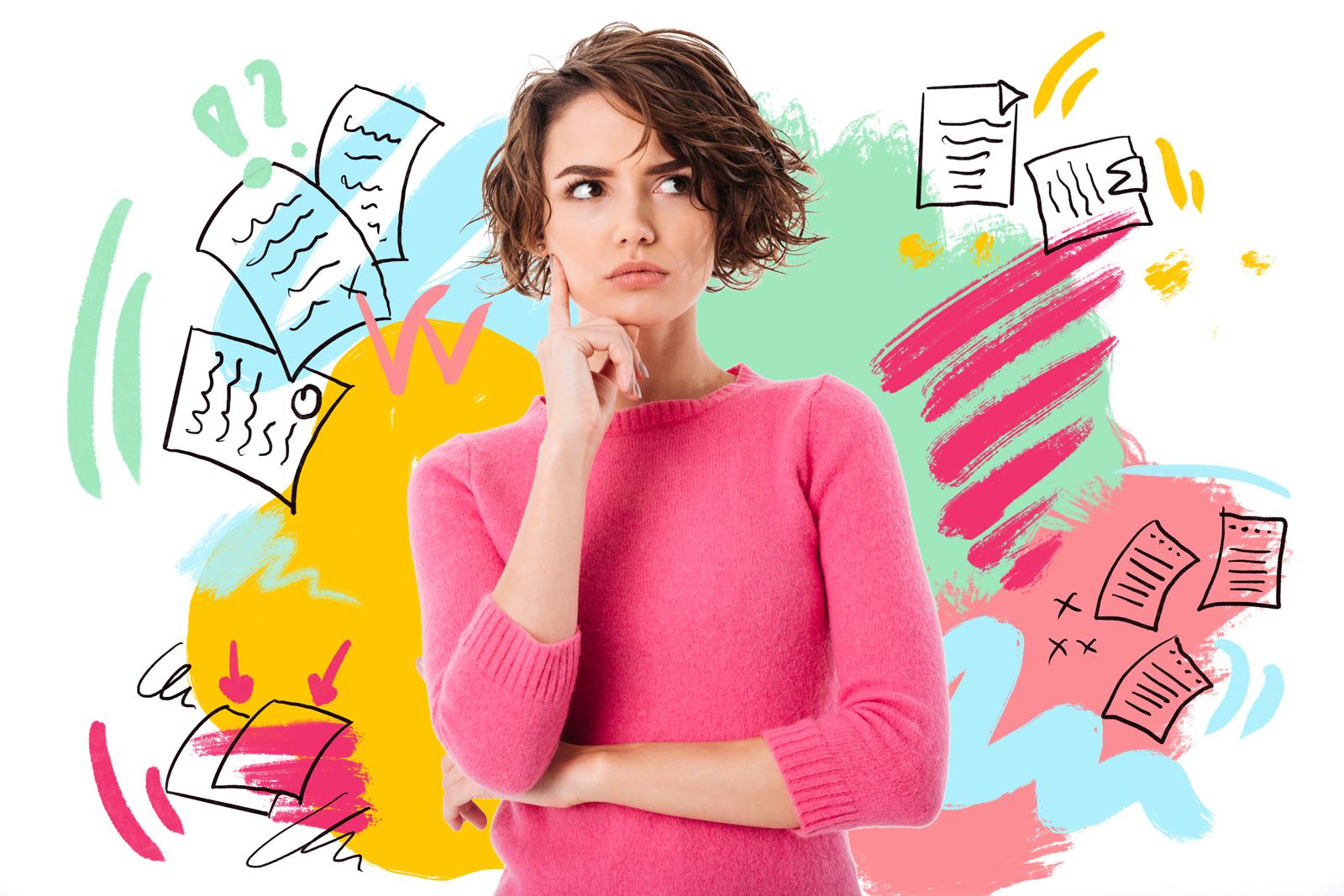 devojka razmišlja pred upis u srednje škole