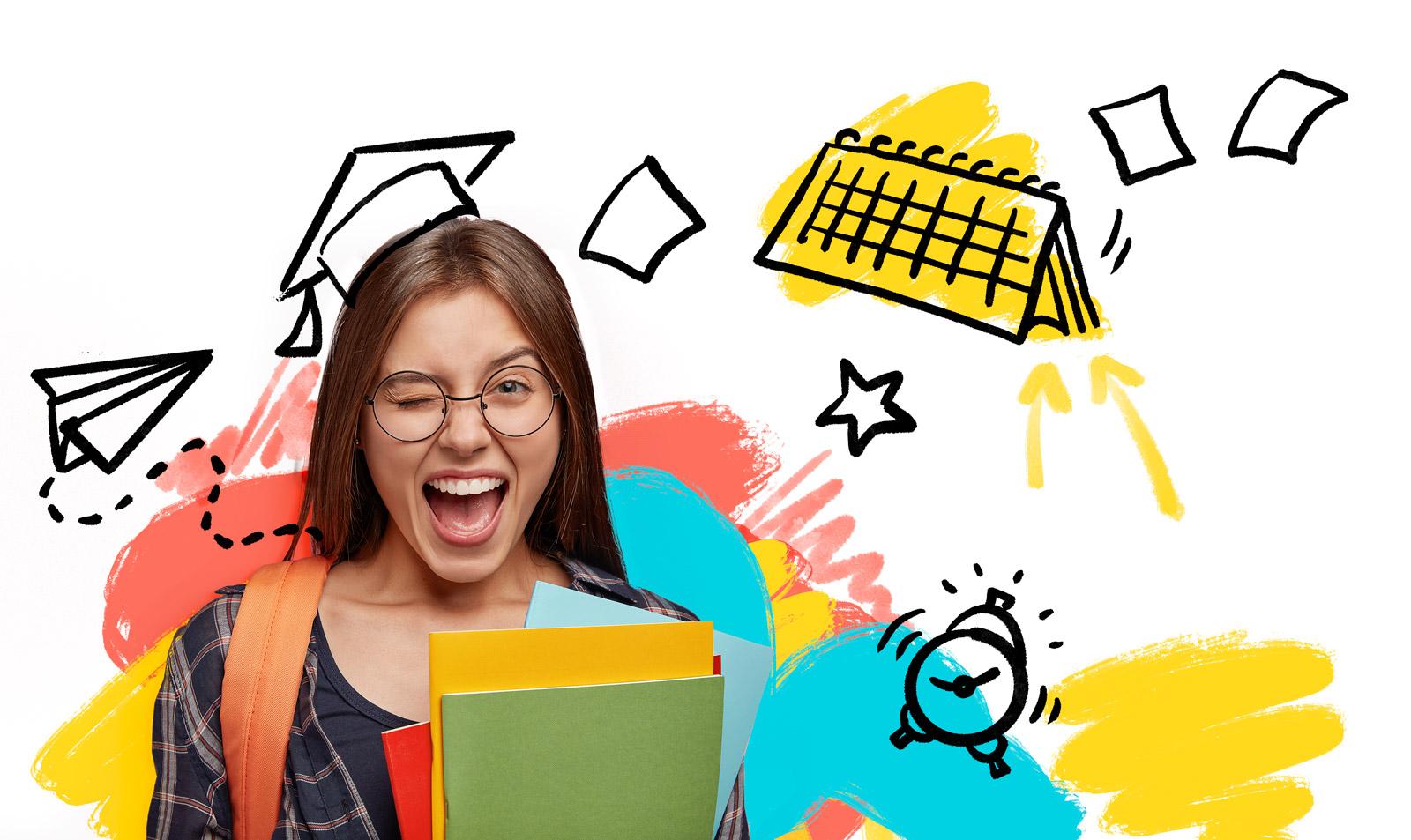 Upis u srednju školu - ilustracija